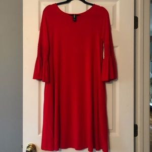 Agnes & Dora Red Swing Dress with pockets Sz S